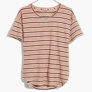 NWT Whisper Crew Neck T-shirt in Cordoba Stripe